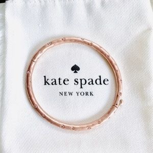 Kate Spade Elegant Stone Rose Gold Bangle